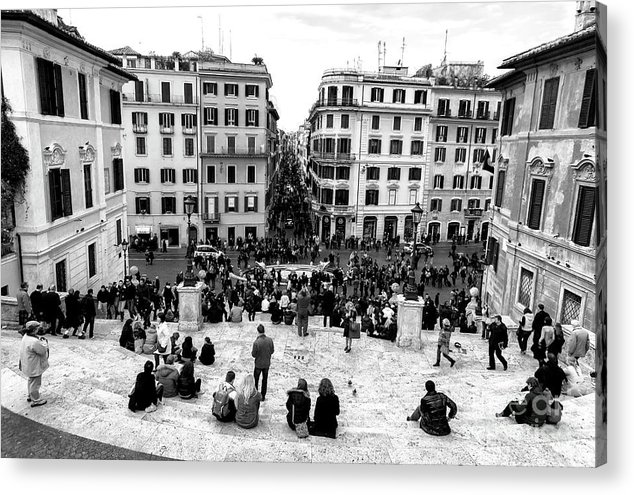 Rome View Acrylic Print featuring the photograph Rome View From The Spanish Steps by John Rizzuto