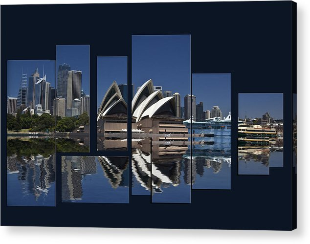 Sydney Harbour Acrylic Print featuring the photograph Sydney Harbour Collage by Sheila Smart Fine Art Photography