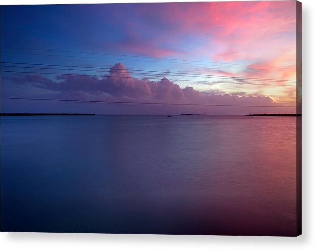 Sunset Acrylic Print featuring the photograph Power Lines by Anthony Sekellick