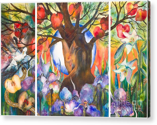 Tree Of Life Acrylic Print featuring the painting The Tree Of Life by Kate Bedell