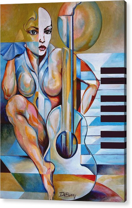 Lloyd Deberry Acrylic Print featuring the painting Musica by Lloyd DeBerry