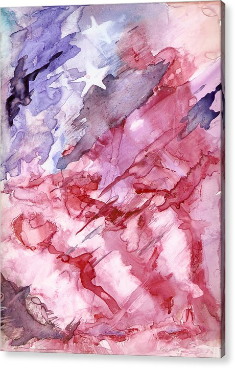 Flag Acrylic Print featuring the painting Old Glory by Roger Parnow