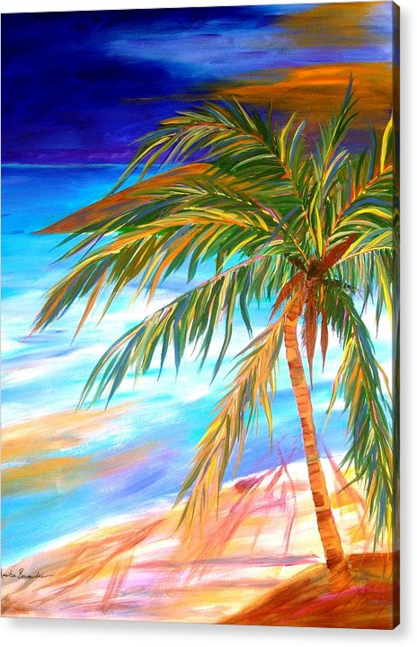 Landscape Acrylic Print featuring the painting Palma Tropical II by Maritza Bermudez