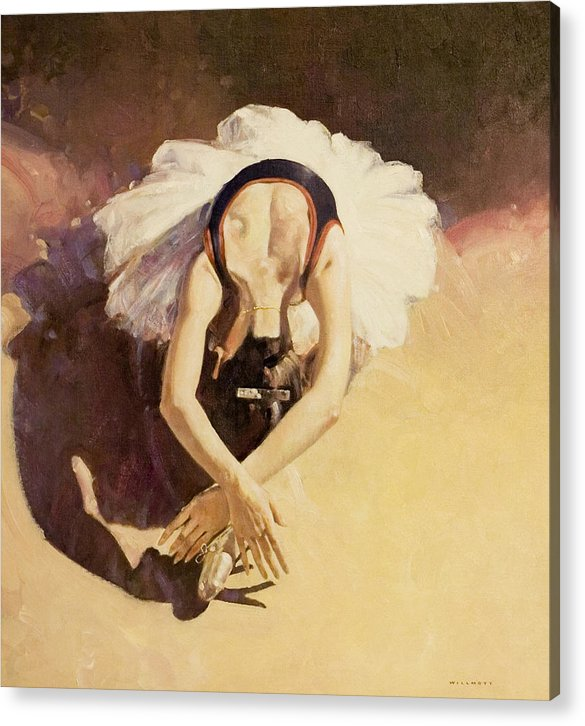 Ballet Acrylic Print featuring the painting Miyako Yoshida by Charles Willmott