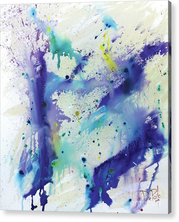 Abstract Acrylic Print featuring the painting The Beginning by JoAnn DePolo
