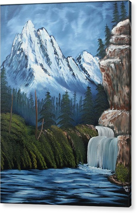 Oil Acrylic Print featuring the painting Untitled by Lori DeBruijn