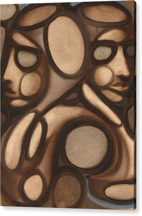 Acrylic Print featuring the painting Tommervik Abstract Figures by Tommervik