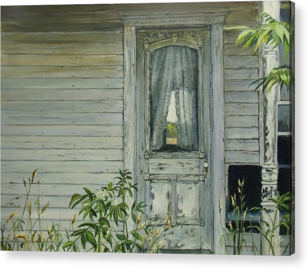Farmhouse Acrylic Print featuring the painting Doorway by William Brody