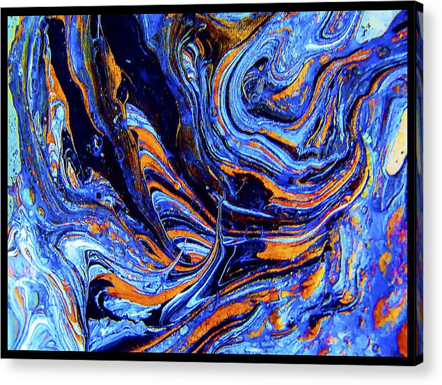 Life Flowing -Abstract Acrylic Painting-Mix media #2 by Renee Anderson
