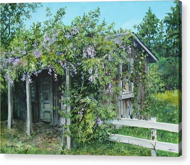 Landscape Acrylic Print featuring the painting Carl's Shed by William Brody