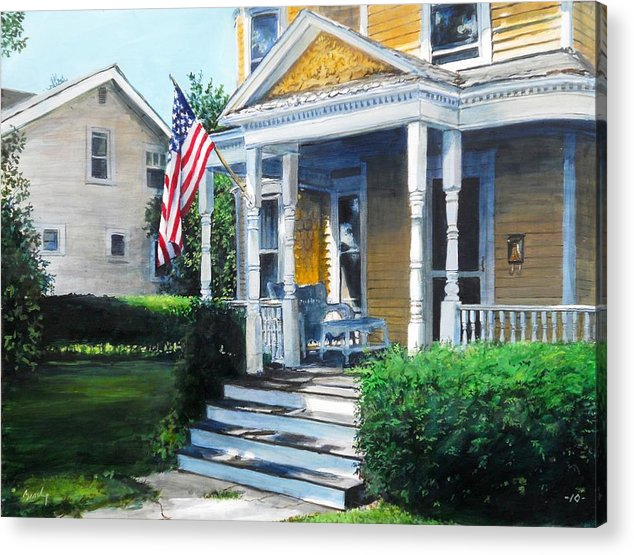 Americana Acrylic Print featuring the painting House On Washington Street by William Brody