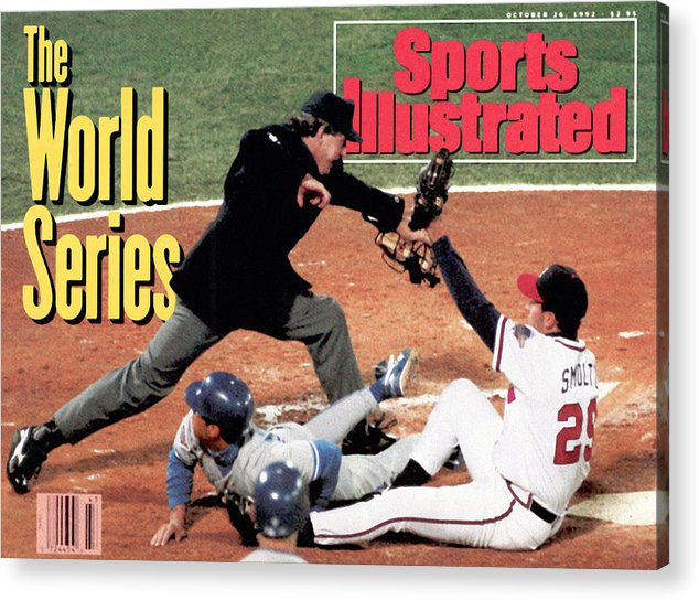 Atlanta Acrylic Print featuring the photograph Atlanta Braves John Smoltz, 1992 World Series Sports Illustrated Cover by Sports Illustrated