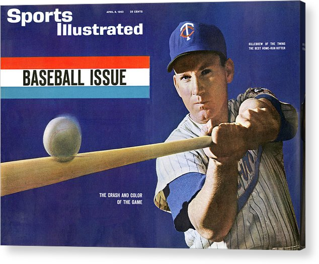 Magazine Cover Acrylic Print featuring the photograph 1963 Mlb Baseball Preview Issue Sports Illustrated Cover by Sports Illustrated