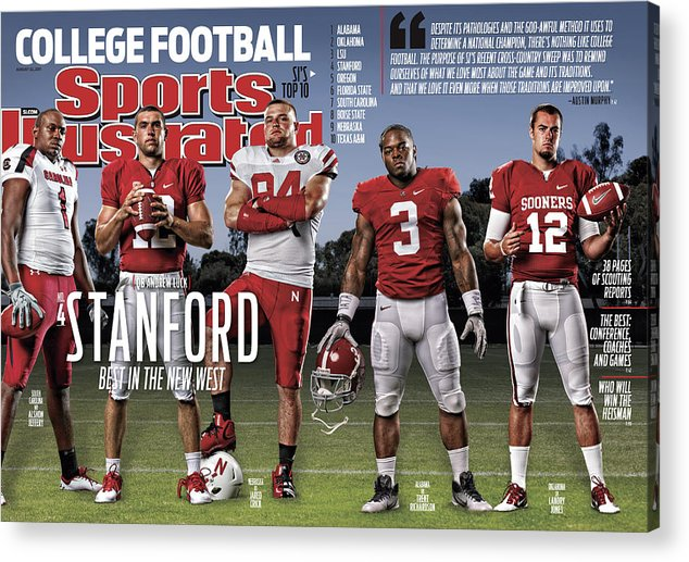 Magazine Cover Acrylic Print featuring the photograph Stanford University Qb Andrew Luck, 2011 College Football Sports Illustrated Cover by Sports Illustrated