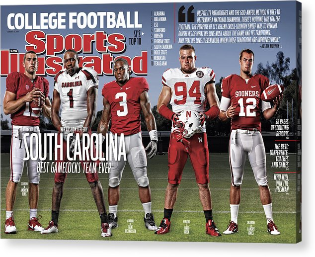 Magazine Cover Acrylic Print featuring the photograph University Of South Carolina Alshon Jeffery, 2011 College Sports Illustrated Cover by Sports Illustrated
