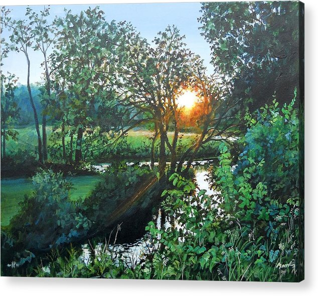 Landscape Acrylic Print featuring the painting A Good Day by William Brody