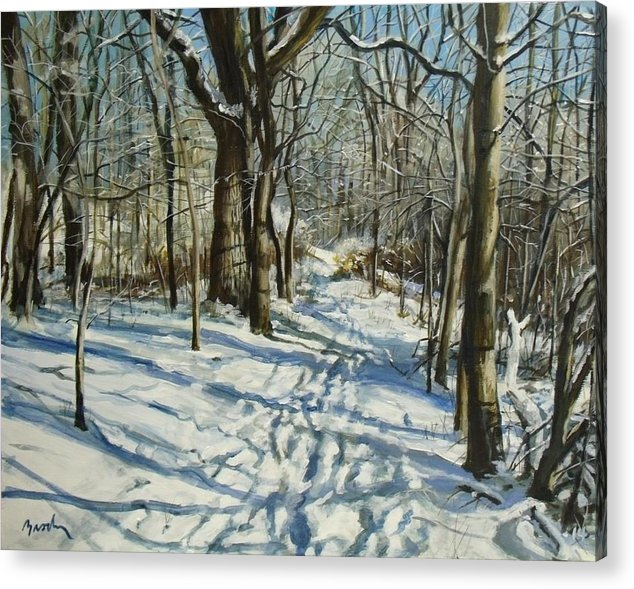 Winter Acrylic Print featuring the painting Woodland Journey by William Brody