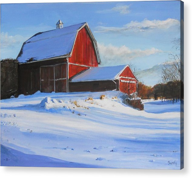 Barn Acrylic Print featuring the painting Suppertime by William Brody