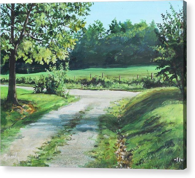 Country Acrylic Print featuring the painting Alabama Road by William Brody