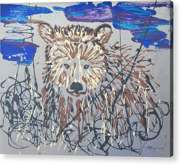 Abstract/impressionist Painting Acrylic Print featuring the painting The Kodiak by J R Seymour