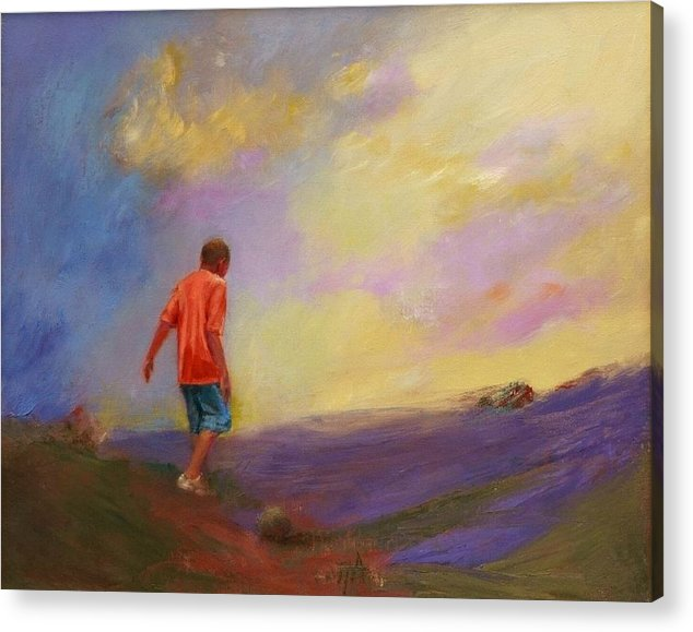 Boy Acrylic Print featuring the painting Bambo by Irena Jablonski
