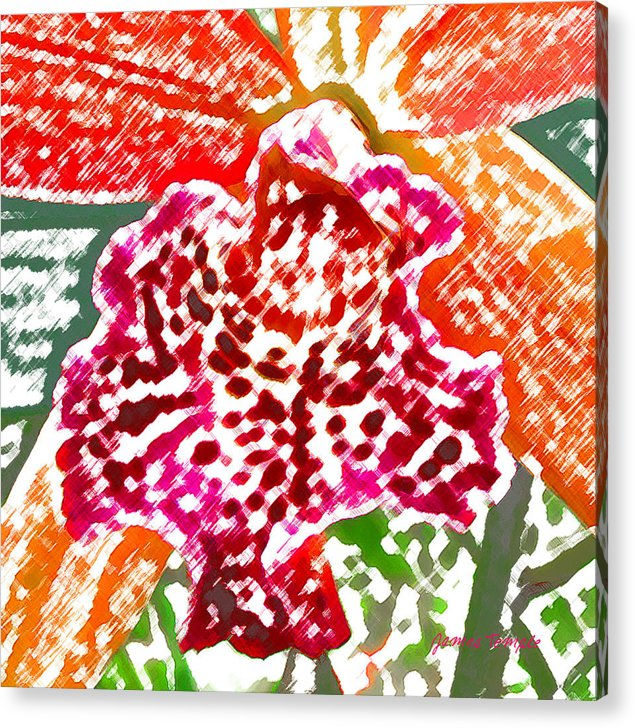 Orchid Acrylic Print featuring the digital art Hawaiian Orchid by James Temple