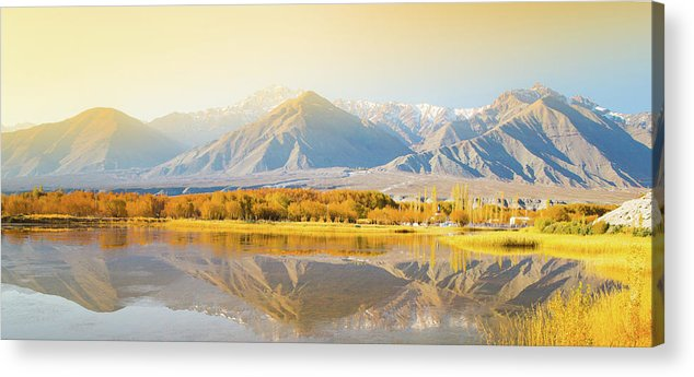 Scenics Acrylic Print featuring the photograph Mountain Landscape In Northern India by Primeimages
