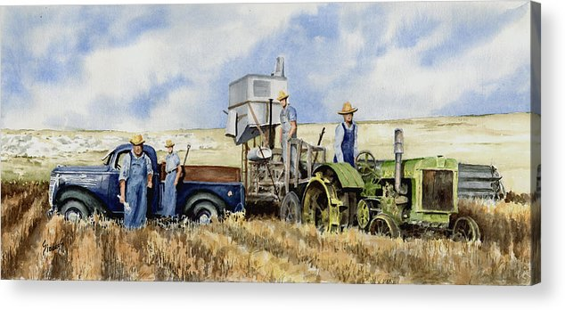 1938 Acrylic Print featuring the painting Catesby Cuttin' 1938 by Sam Sidders