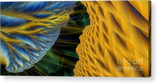 Lightning Acrylic Print featuring the digital art Fractal Storm by Ron Bissett