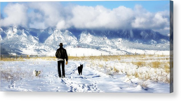 Americana Acrylic Print featuring the photograph Friends on a Walk by Marilyn Hunt