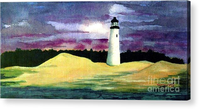 Fine Art Acrylic Print featuring the painting The Beacon by Patricia Griffin Brett