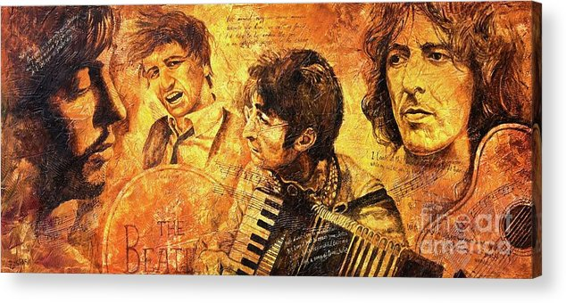 The Beatles Acrylic Print featuring the painting The Best Forever by Igor Postash