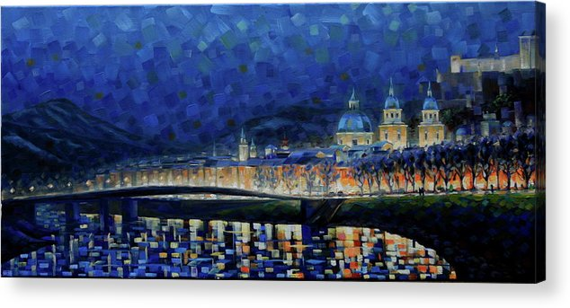 Salzburg Acrylic Print featuring the painting Austrian Nights by Rob Buntin