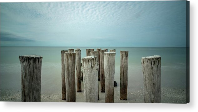 Naples Florida 2021 Acrylic Print featuring the photograph Naples Pilings 2021 by Joey Waves