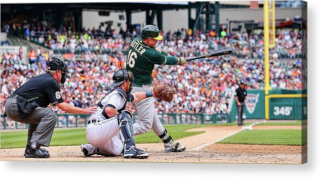 People Acrylic Print featuring the photograph Billy Burns and Billy Butler by Leon Halip