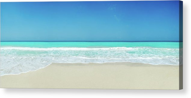 Water's Edge Acrylic Print featuring the photograph Tropical White Sand Beach by Apomares