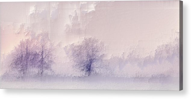 Acrylic Print featuring the digital art Winter landscape by Jenny Filipetti