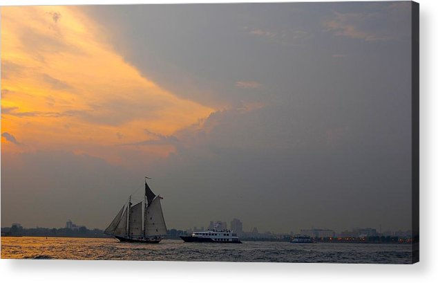 Hudson River Acrylic Print featuring the photograph Hudson River 3 by Judy Swerlick