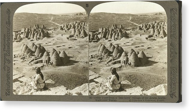 1900 Acrylic Print featuring the photograph Arab Bee Hive Village by Underwood & Underwood