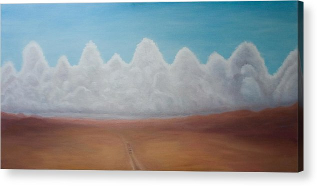 Landscape Acrylic Print featuring the painting Clouds on the Horizon by Stephen Degan