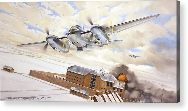 Aviation Acrylic Print featuring the painting Mosquitoes Over Jericho by Marc Stewart