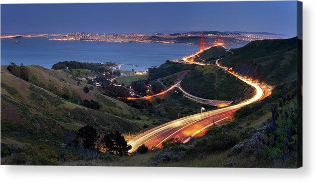 Scenics Acrylic Print featuring the photograph S Marks The Spot by Vicki Mar Photography