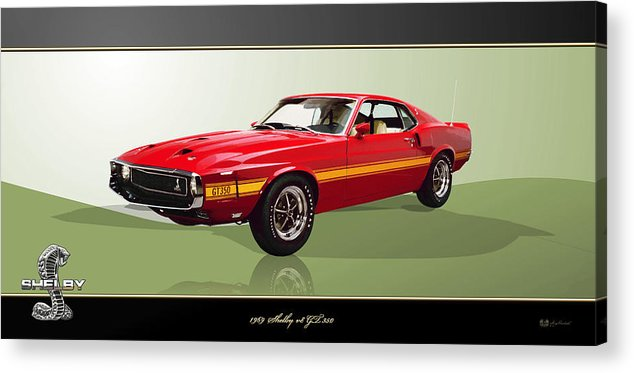 Wheels Of Fortune By Serge Averbukh Acrylic Print featuring the photograph 1969 Shelby v8 GT350 by Serge Averbukh