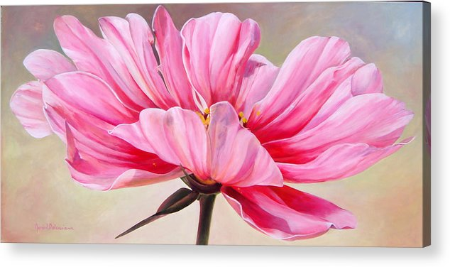 Floral Painting Acrylic Print featuring the painting Cosmos de bullion by Muriel Dolemieux