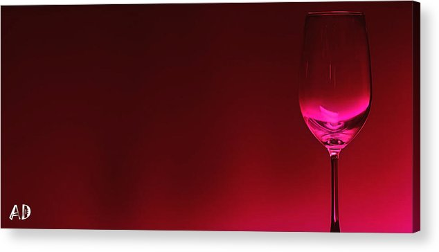 Wine Acrylic Print featuring the digital art Glass Of Wine by Abhijeet Dhidhatre