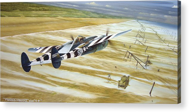 Wwii Acrylic Print featuring the painting Gotcha' by Marc Stewart