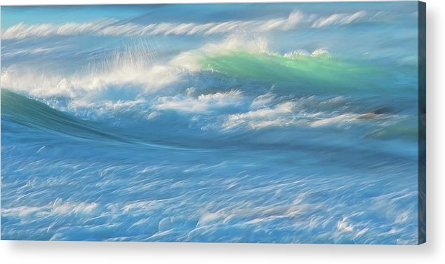 Nature Acrylic Print featuring the photograph Light Wave at Asilomar, Pacific Grove, California by Zayne Diamond Photographic