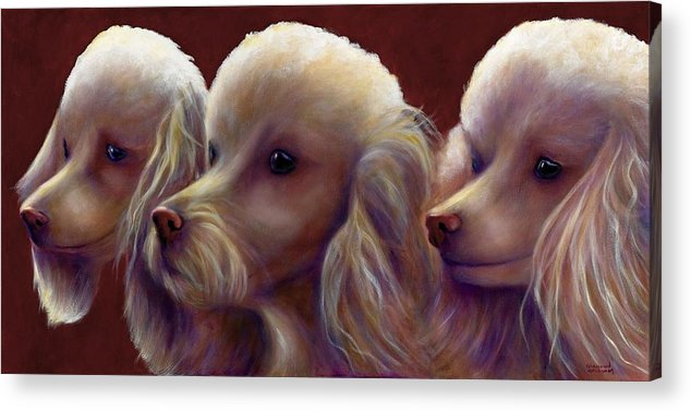 Dogs Acrylic Print featuring the painting Molly Charlie and Abby by Shannon Grissom