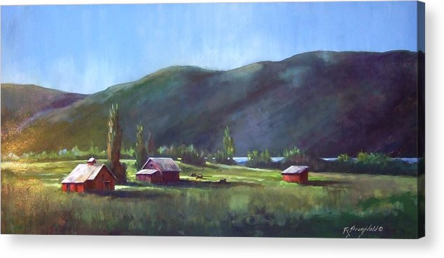 Meadow Acrylic Print featuring the painting Sunlit Meadow by Ruth Stromswold