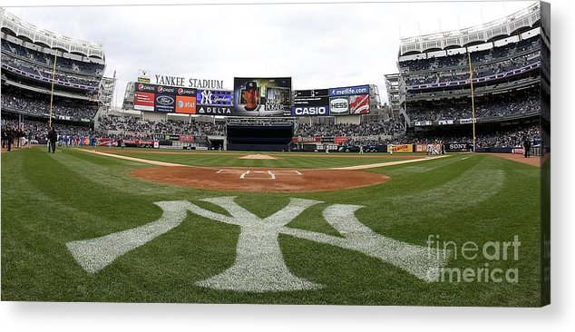 American League Baseball Acrylic Print featuring the photograph Chicago Cubs V New York Yankees by Nick Laham